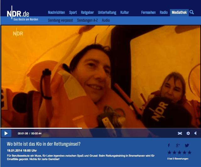 NDR Urte Lindernberg in der Tod und das Meer Januar 2014