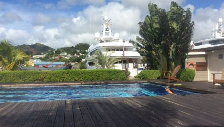 Pool Megayachtblick in Port Louis in St. George auf Grenada