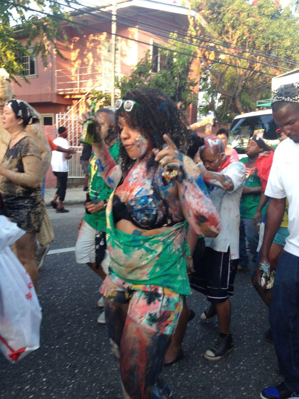 Heavy Dancing beim Karneval in Trinidad