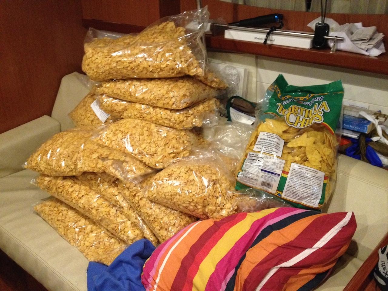 Und ganz viel Cornflakes für die Crew der hapa na sasa