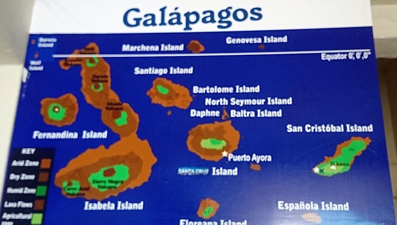 Galápagos besteht aus mehreren Inseln