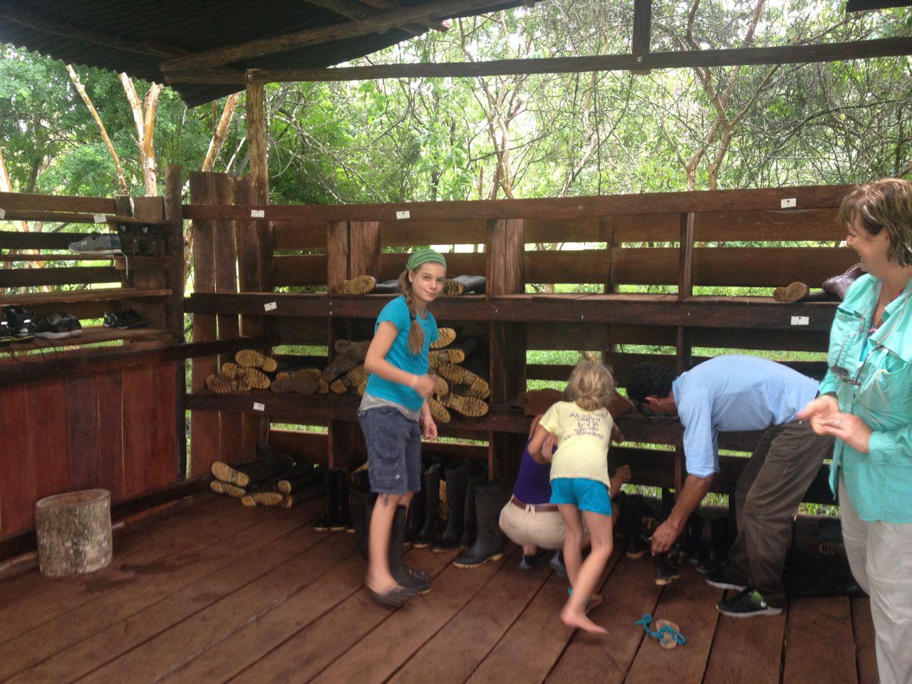 Gummistiefel gratis im Park bei den Riesenschildkröten