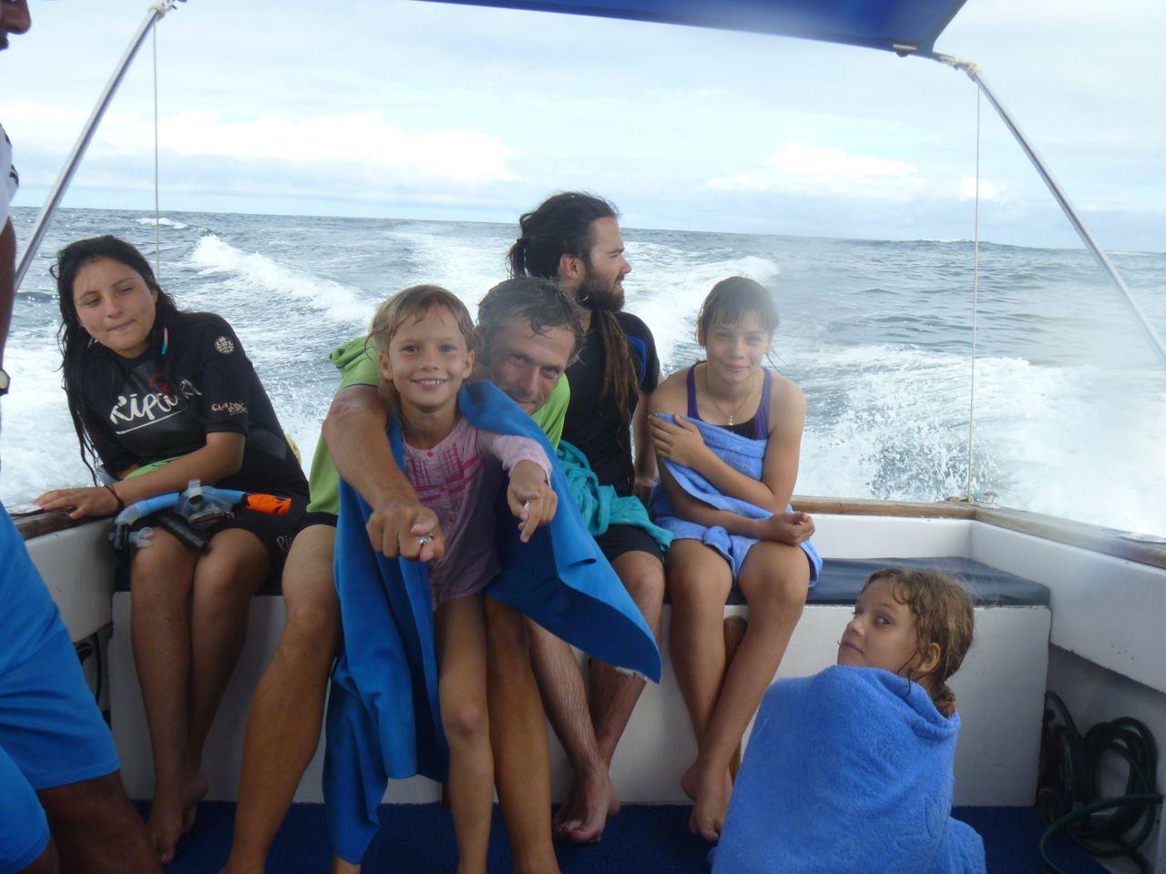 Im Powerboat auf Isabela zum schnorcheln