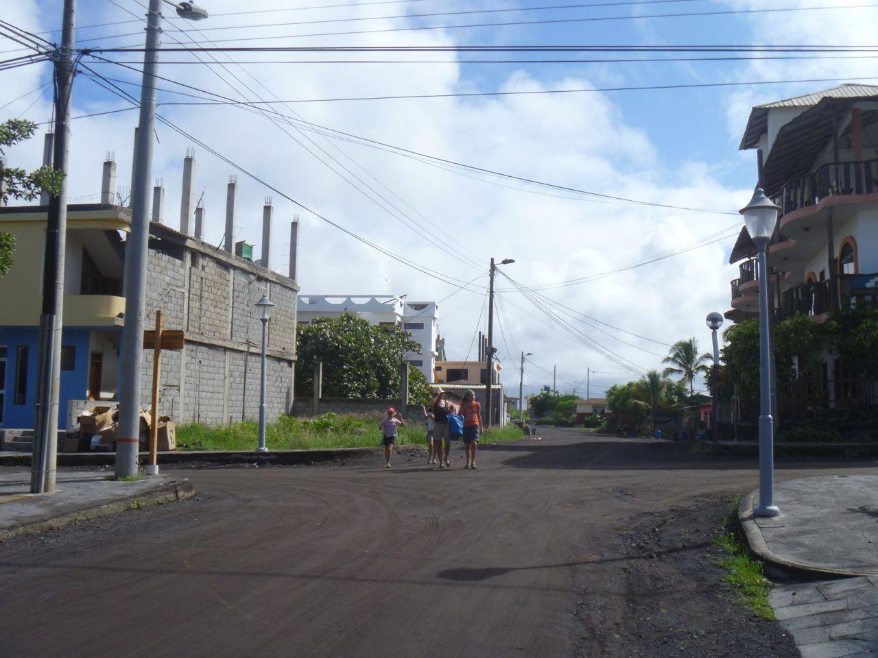 Strasse auf Isabela Galapagos