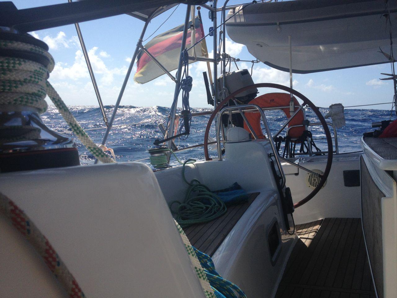 Ziemlich viel Wind auf den letzten Tagen unserer Pazifiküberquerung mit der hapa na sasa