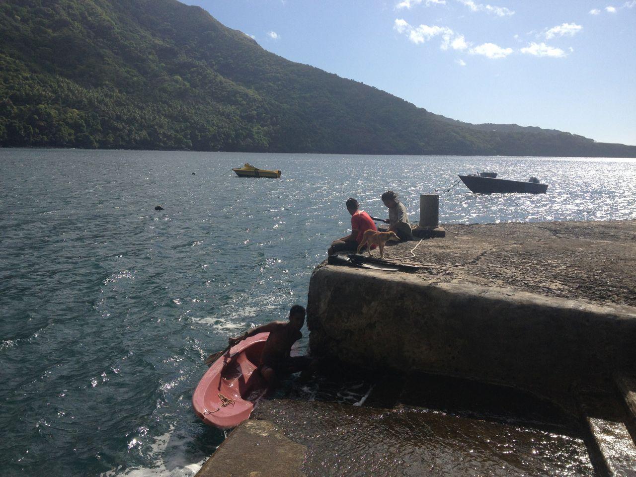 Angeln in Hatiheu auf Nuku Hiva Marquesasa