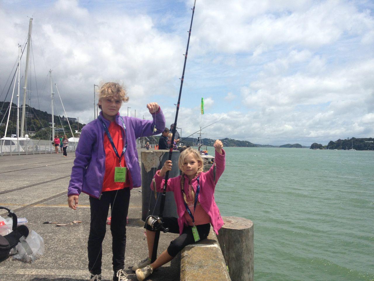 Kidsfischen in Opua Neuseeland