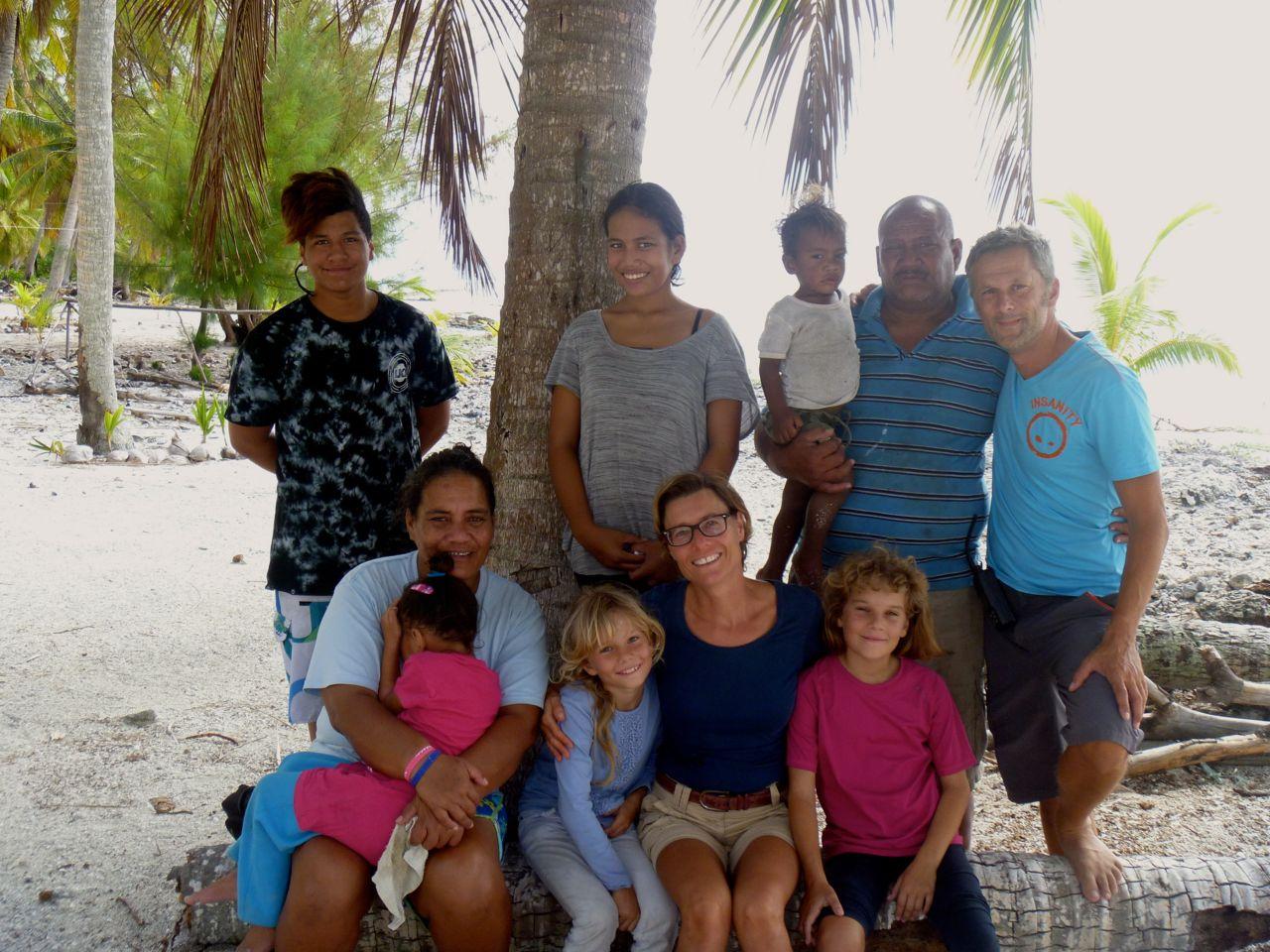 Abschied von Bob und seiner Familie auf Palmerston