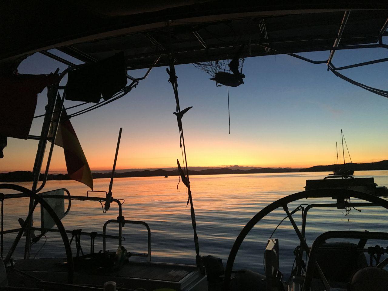 Sonnenuntergang in der Paradise Bay von Urupukapuka