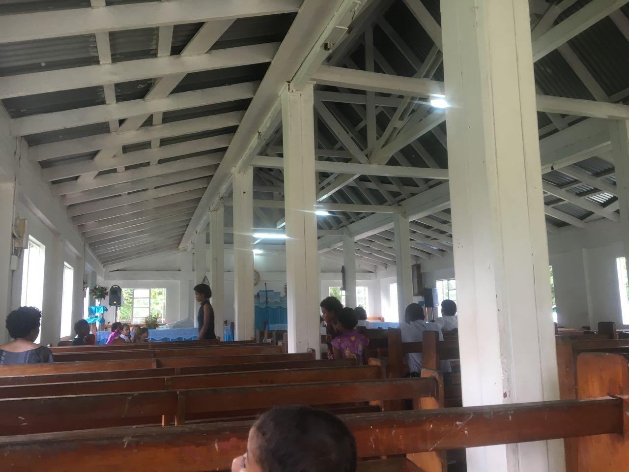 Die Kirche in Komo auf Fidschi