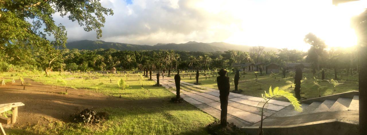 Ein wunderbarer Blick in der Nähe von Port Resolution auf Tanna in Vanuatu