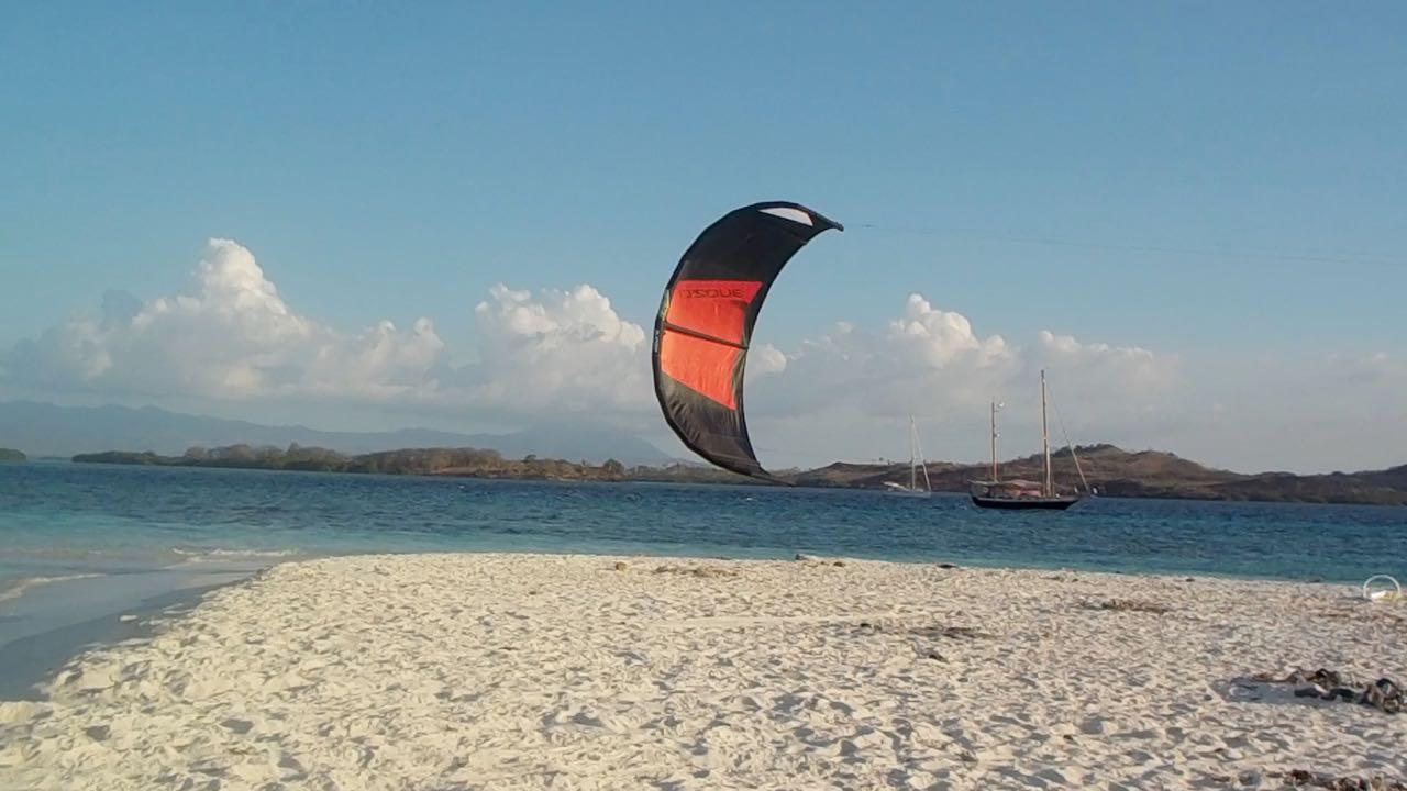 Nch nur kurzer Zeit fliegt mein Kite zum ersten Mal