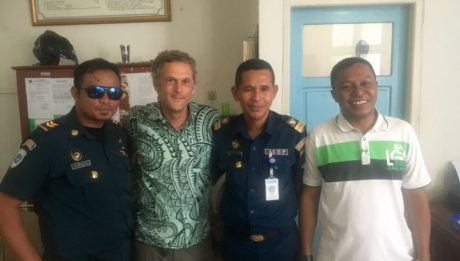 Die Crew im Harbourmaster Office zum Foto