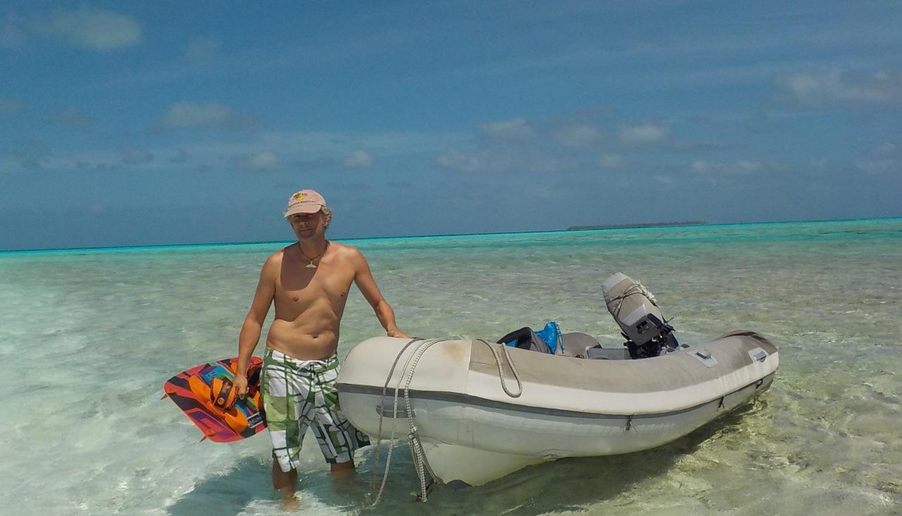 Kiten in Cocos Keeling mitten im Pazifik