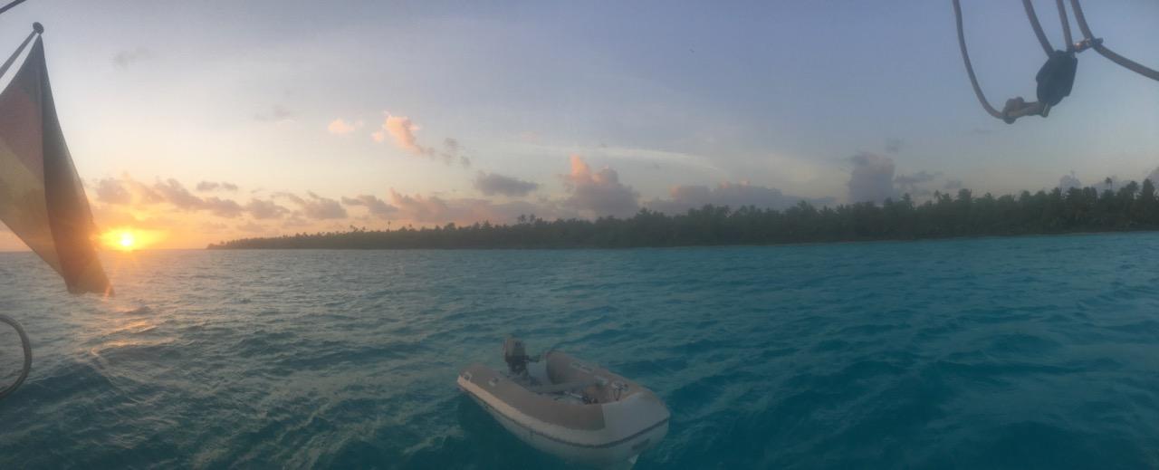 Einer der zahlreichen wunderbaren Sonnenuntergänge auf Cocos Keeling