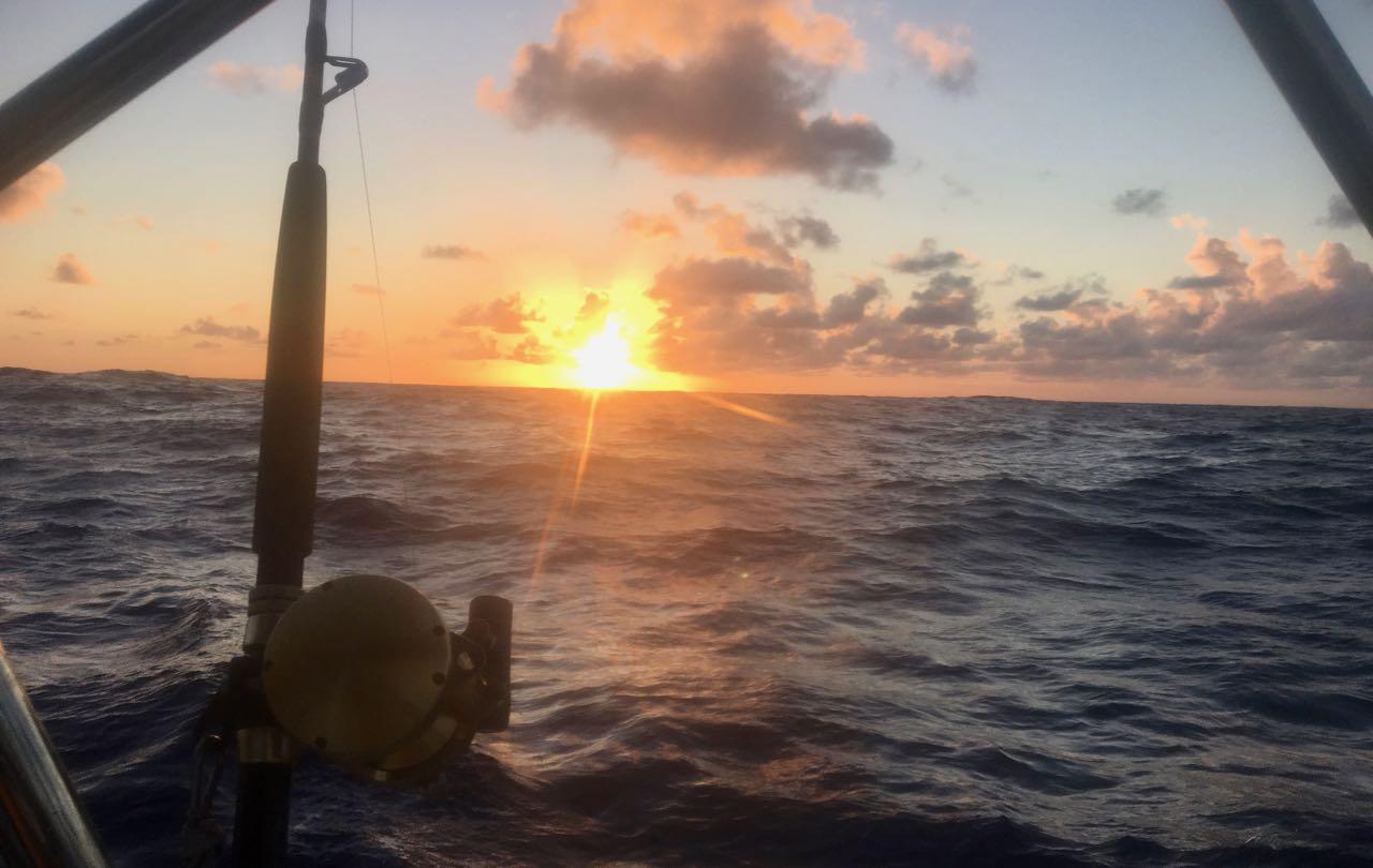 Traumhafter Sonnenuntergang auf dem Weg nach Rodriguez