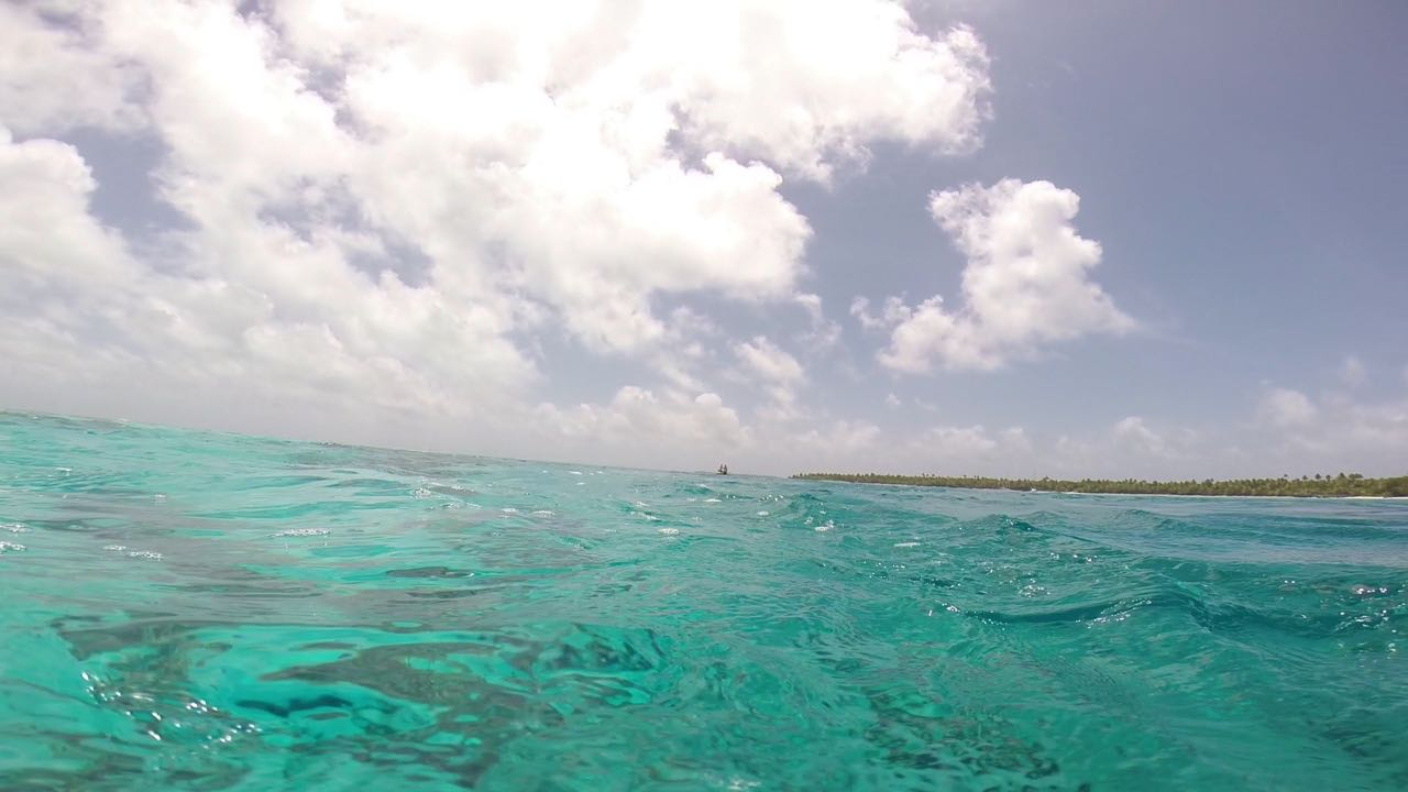Wasser, Strand und Palmen auf Cocos Keeling mit der hapa na sasa auf unserer Auszeit mit Kindern