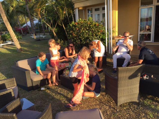 Lecker Apero bei Anne und Guy auf Mauritius