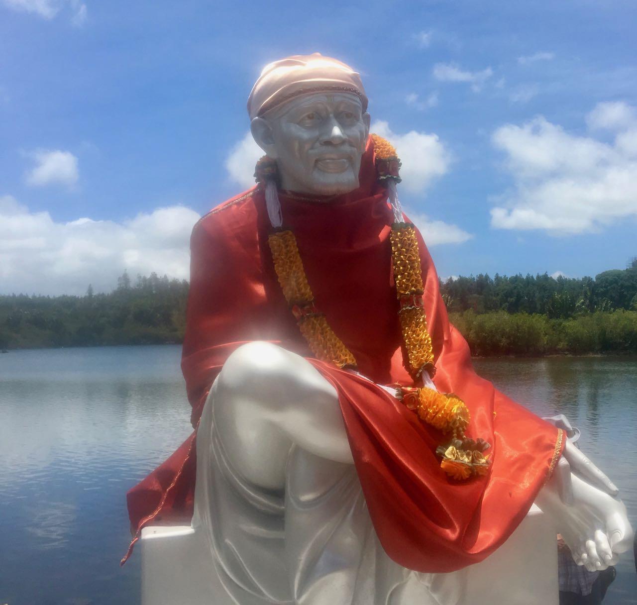 Götterstatue am Ganga Talao Tempel auf Mauritius